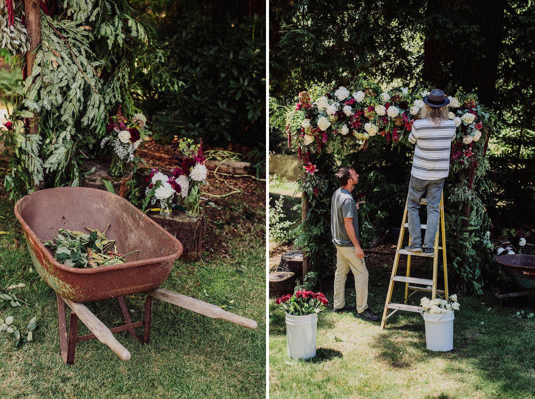 arcata rustic wedding alder grove gardens
