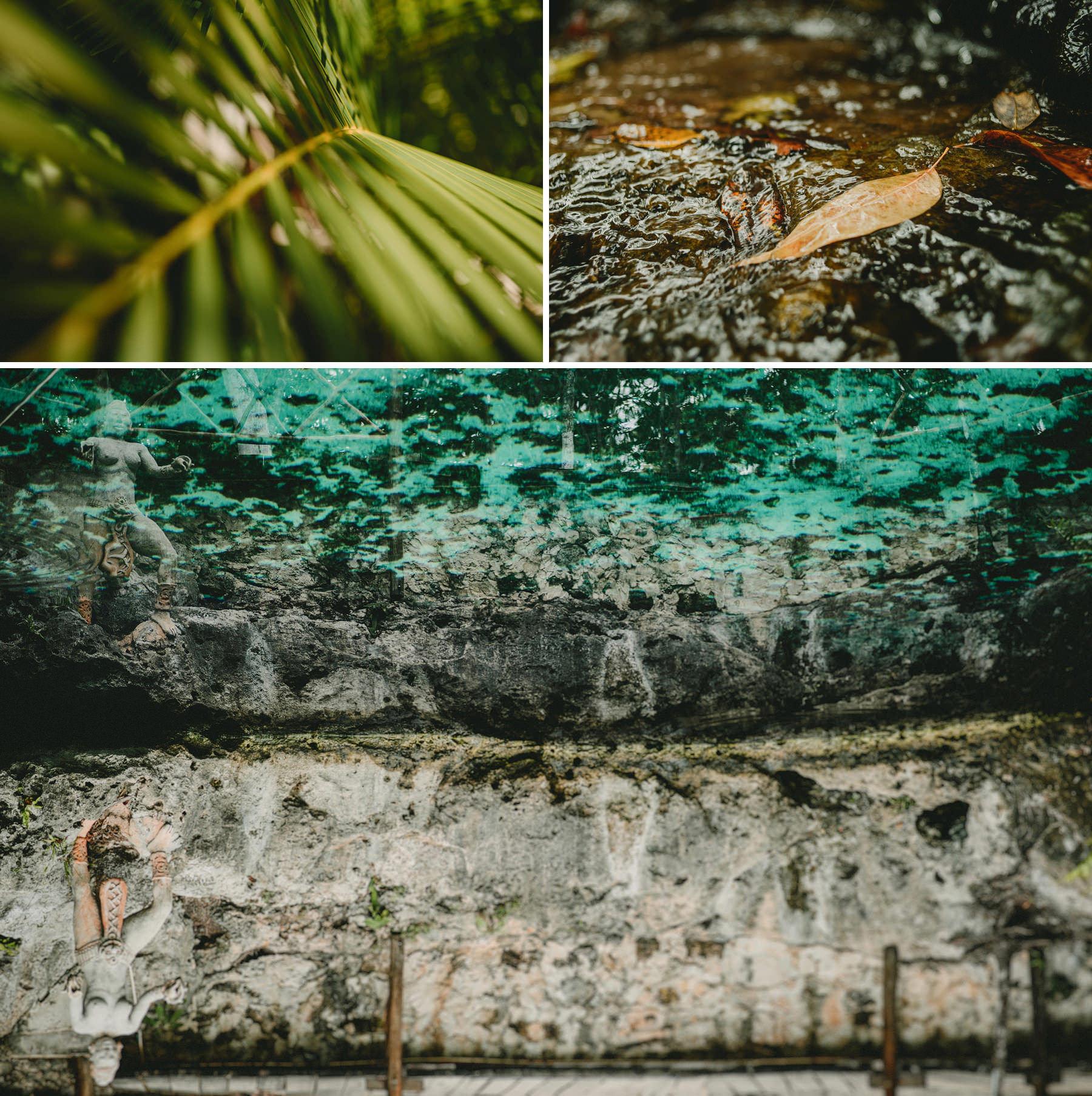 intimate mayan wedding cenote