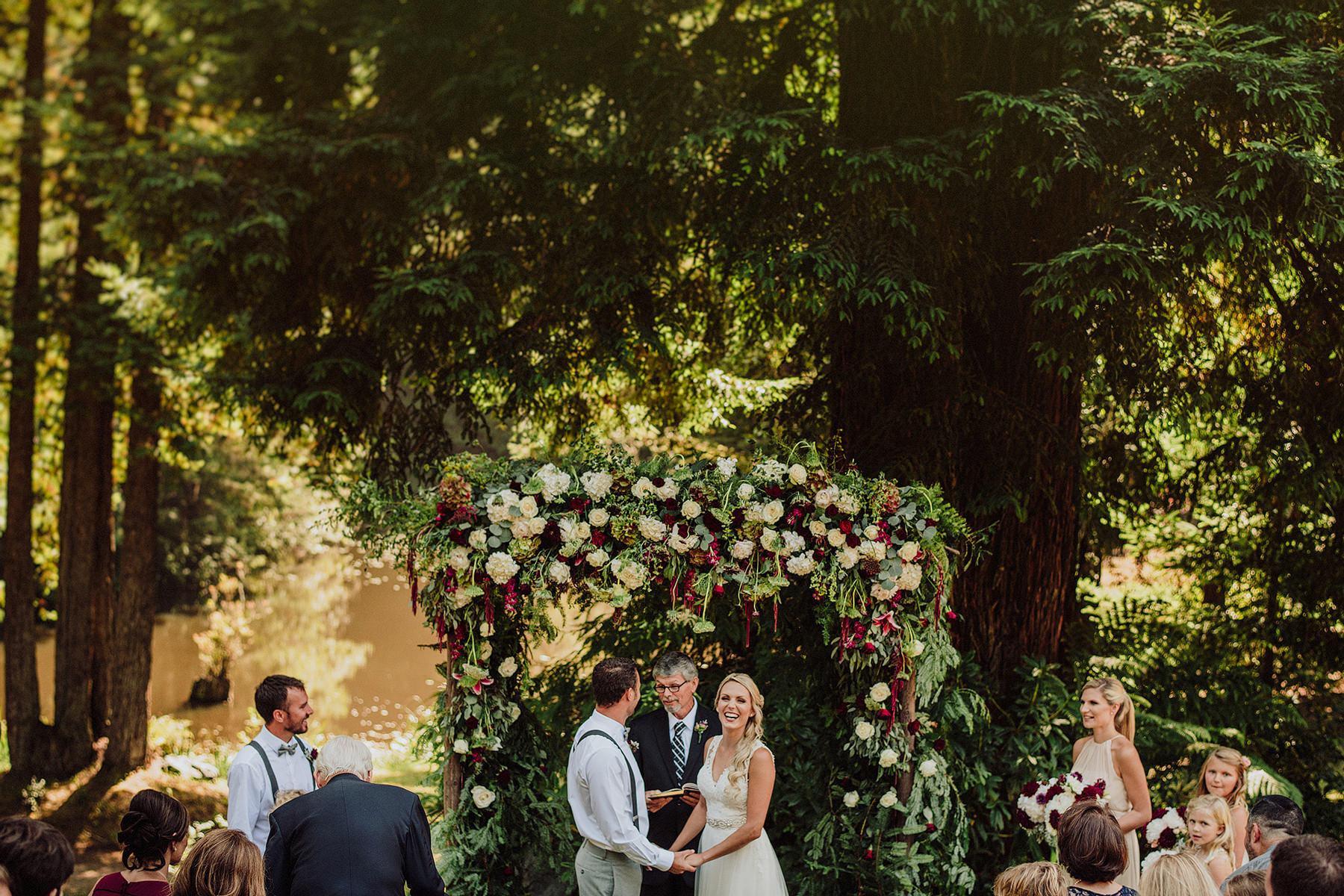 rustic wedding in aldergrove gardens