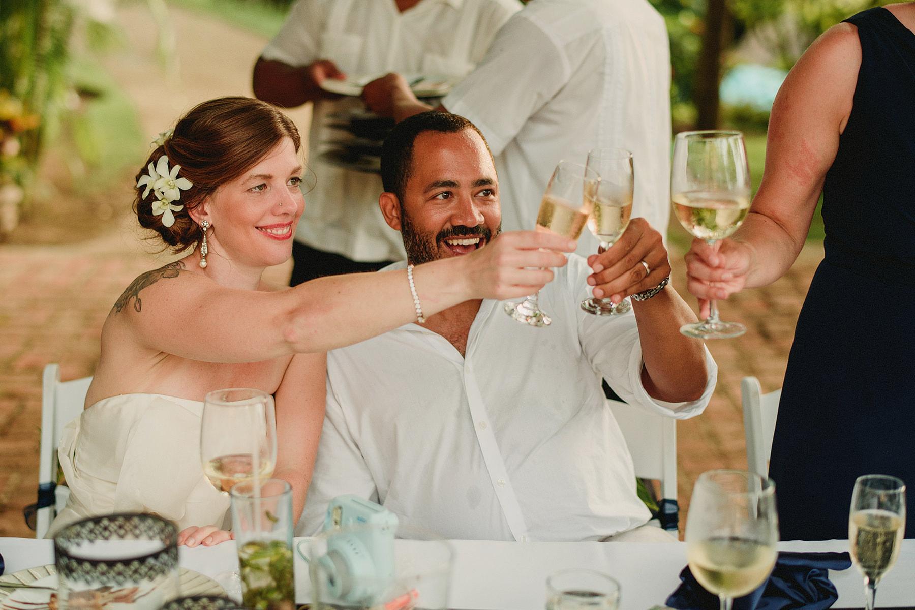 intimate wedding in villa amor