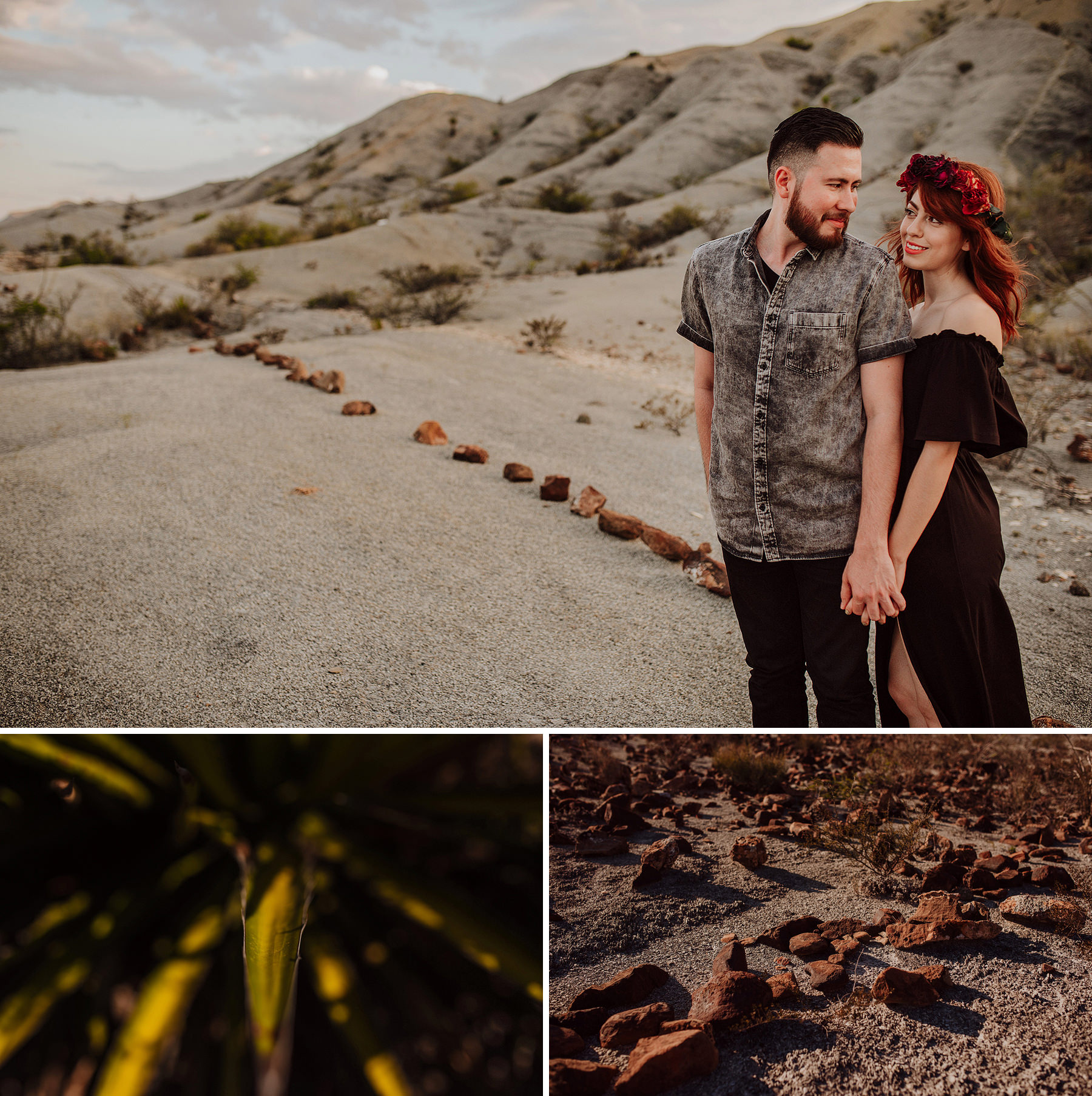 engagement session in the desert